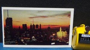 STD Vintage Chicago Skyline at Sunset Illinois Unposted c1969