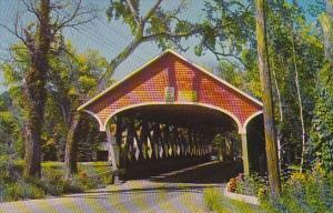 Entrance To Covered Bridge Lancaster New Hampshire