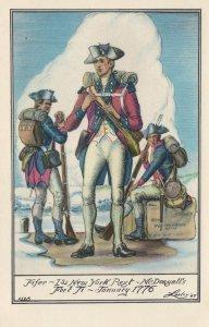 Fifer Of 1st New York Regiment McDougalls 1776 Fort Tilbury Postcard
