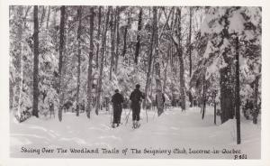 RP: LUCERNE in Quebec, 30-40s; Skiing Over Woodland Trails, Seigniory Club
