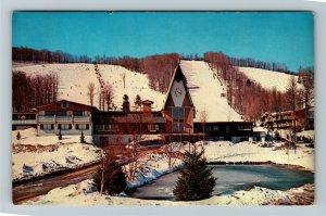 Boyne Falls MI- Michigan, Boyne Mt., Ski Lodge, Chrome c1966 Postcard