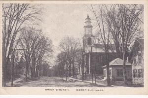 DEERFIELD, Massachusetts, 1900-1910's; Brick Church