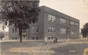 Cokato Minnesota~High School Building~Little Girl & Boys in Front~1924 RPPC