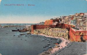 Valletta Malta Marina, aerial coast view