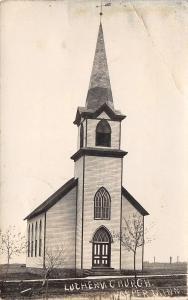 Jasper MN Lonely, Rural Norwegian? Lutheran Church~Windvane on Steeple RPPC 1910