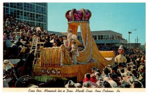 Louisiana New Orleans Mardi Gras King Rex Monarch for a Day