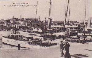 CANNES , France , 00-10s ; Le Port et le Mont Chevalier
