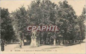 Postcard Ancient Monument and Bourg The Quincunx Edgar Quinet