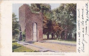 Jamestown Church Tower And Foundation Norfolk Virginia 1907