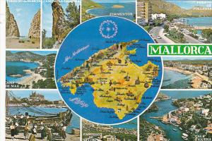 Multi View and Map Mallorca Spain
