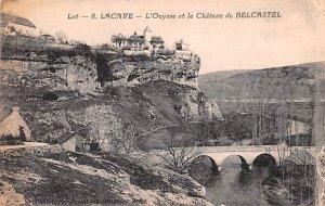 Lacave, L'Ouysse et le Chateau Belcastel France Writing on back