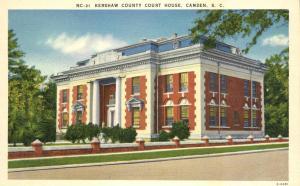 Kershaw County Court House - Camden SC, South Carolina - Linen