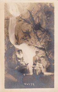 RP: 2 women at Water Falls on Donkey , Cheyenne Canon , Colorado , 00-10s
