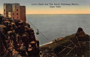 South Africa Cape Town Lion`s Head aerial cableway station postcard