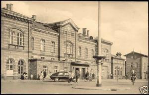 germany, BERNBURG Saale, Bahnhof, Station (1961) RPPC