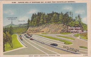 Tennessee Great Smoky Mountains National Park Parking Area At Newfound Gap As...