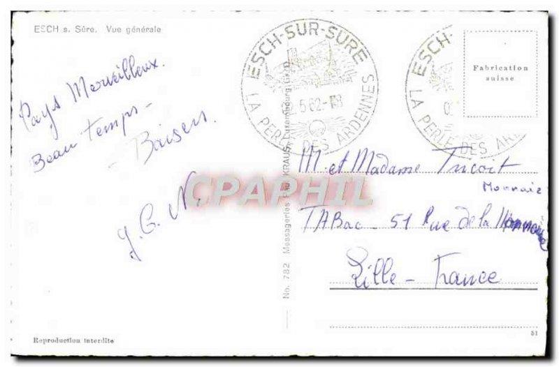 Old Postcard Esch sur sure General view