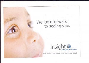 Insight, Optometrist Reminder Postcard, Halifax, Nova Scotia