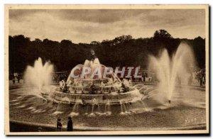 Old Postcard Versailles Palace gardens Latona fountain