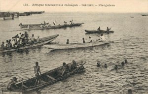 Africa - Afrique Occidentale Senegal Dakar Piroguiers Native 03.74