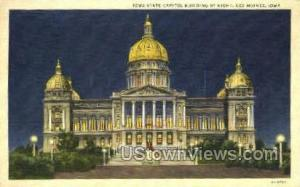 Iowa State Capitol Des Moines IA 1939 missing stamp
