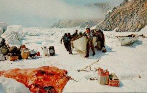 Alaska King Iisland Hunters From Ukivok With Skin Boat and Walrus Hide In For...