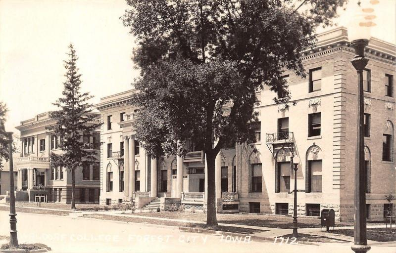 Forest City Iowa~Waldorf College Buildings~1940s Real Photo Postcard~RPPC