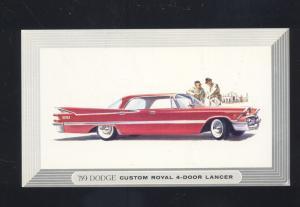 1959 DODGE ROYAL LANCER UNION NEW JERSEY CAR DEALER ADVERTISING POSTCARD