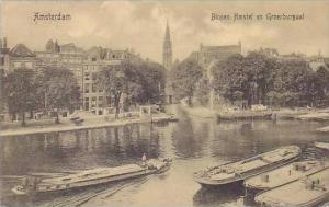 Netherlands Amsterdam Binnen Amstel en Groenburgwal 1910