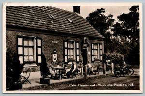 Wouwsche Plantage NB~Cafe Dennenoord~Motorcycle~Pepsi Cap~Amstel Bier~c1950 RPPC