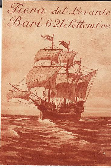 Italy - Bari Levant Fair  3 x 6 Small poster with Ship