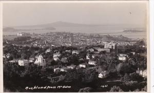 New Zealand Auckland View From Mount Eden Real Photo