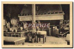 Postcard Old Kitchen Beaune Hospices Hotel Dieu