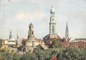 Hamburg Die Turme der Stadt, Denkmal Monument Statue Towers Panorama