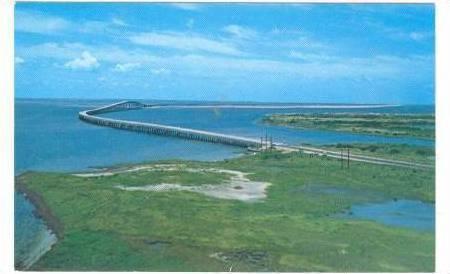 Bird's Eye View, Herbert C. Bonner Bridge, Nags Head and Hatteras Island, out...