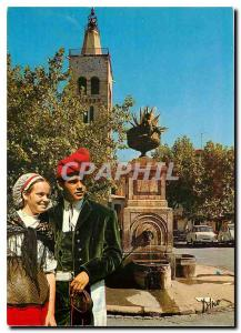 Postcard Folklore and Modern Colors Conflent Prades View of the Romanesque be...
