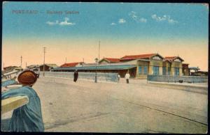 egypt, PORT SAID, Railway Station (1910s)