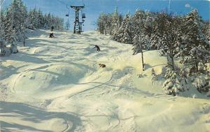 Vermont, Waitsfield The Chute at Mid River Glen cable cars Winter hiver 1962