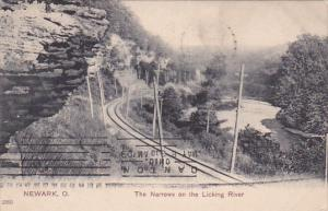 NEWARK, Ohio, The Narrows on the Licking River, PU-1909