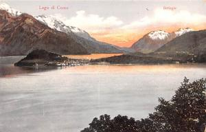 Switzerland Old Vintage Antique Post Card Lago di Como Bellagio Unused