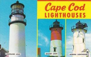 Highland Nauset & Nobska Lighthouses Cape Cod Massachusetts