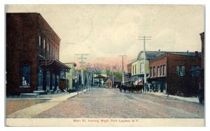 Early 1900s Main Street looking West, Port Leyden, NY Postcard *5E5