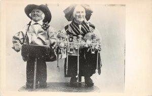 F55/ New York City RPPC Postcard c1940s Bernard Ravca Peddler Dolls