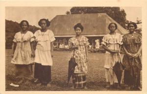 Samoa Pacific Islands native schoolgirls Jeunes eleves des Soeurs d`Apia Oceania