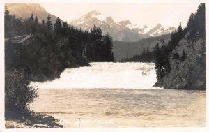 Bow Falls, Alberta, Canada, Early Real Photo Postcard