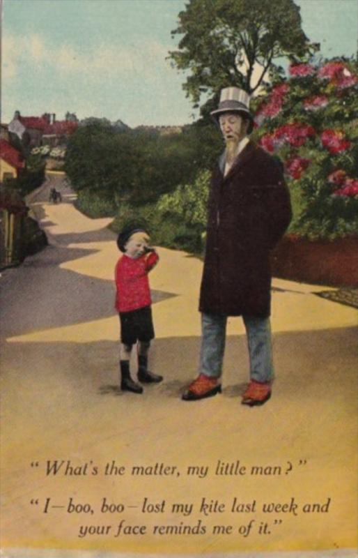Bamforth Humour Old Man and Boy What's The Matter My Little Man 1921