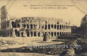 Roma, Italy, Italia Anfiteatro Flavio e Colosseo coi nuovi scavi  Anfiteatro ...