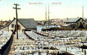 Drying Fish Gloucester MA Unused