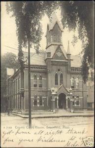 Greenfield, Mass., County Court House (1906) Glitter