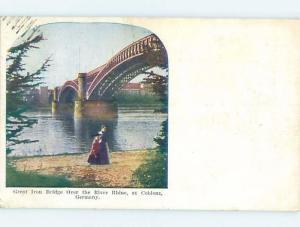 Old Postcard GREAT IRON BRIDGE Koblenz - Coblenz Germany F5564